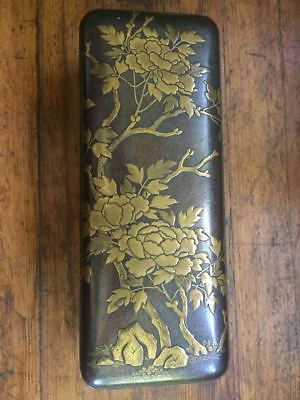 Edo Period Japanese Lacquer Document Box - STUNNING - Meiji Zen 1700s Japan