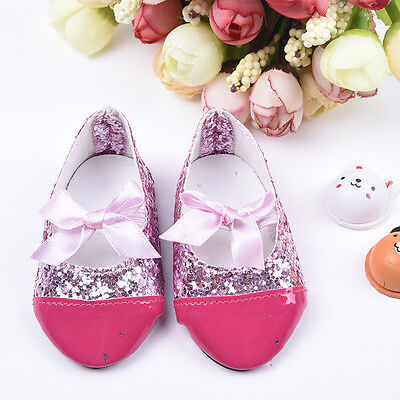 Fashion Shinning Sequins Shoes for 18 Inch Doll Baby Kid Gift.