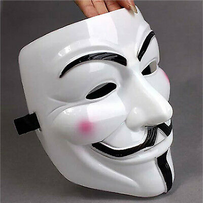Halloween Masks Funny Mask Anonymous Fancy Dress Costume Geek Mask Newest