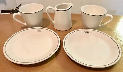 Ford Motor Company Cafeteria Toast & Coffee Syralite Set