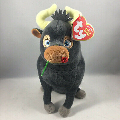 "TY Beanie Baby 6"" Ferdinand the Bull Plush Stuffed Animal w/ MWMT's Heart Tags"