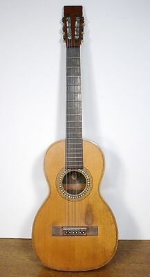 Rare Antique C. BRUNO NEW YORK Flat Top Acoustic Parlor Guitar. Beautiful!