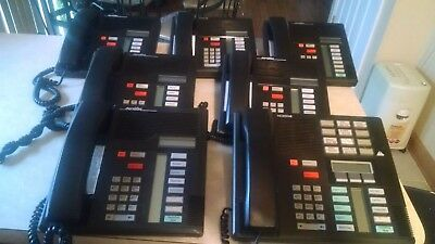 Lot of 7 Nortel Norstar Meridian Business Phone System (1) M7310 (6) M7208