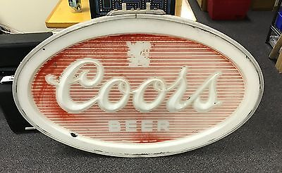 "Coors Beer Sign - Front Panel of Outdoor Vintage Can Sign - 48"" W x 34"" H"