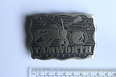 Tamworth Australia Collectable Belt Buckle Murray Views Genuine Pewter