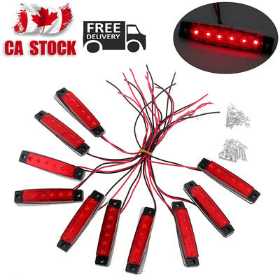 10 X Lights (red) with Screws Tail Light Clearance Lamp Trailer Truck Side NEW