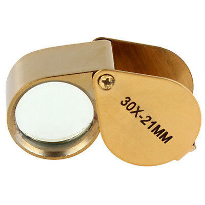 30 X 21 Jewelers Magnifier Magnifying Glass Eye Loupe Gold Jewlery Fashion+ Case