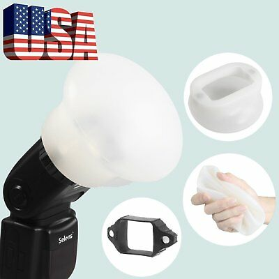 Magnetic Flash Selens Modifier Sphere Diffuser Bounce + Rubber Band Kit US STOCK