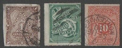 Uruguay. 1877 Value Stamp. Cancelled