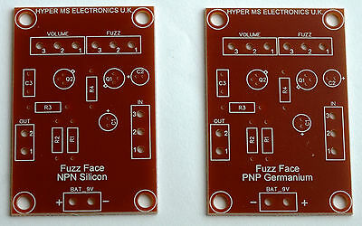 Fuzz Face 2x Top Quality, Professionally Fabricated  PCB's Stompbox PNP & NPN