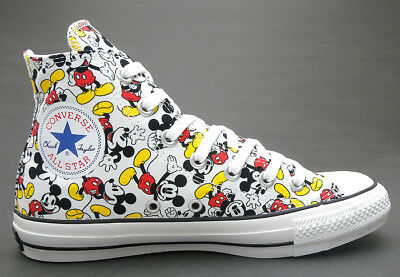 084b0195c0a CONVERSE ALL STAR HI 100 Anniversary MICKEY MOUSE Multi Color Shoes Disney  New
