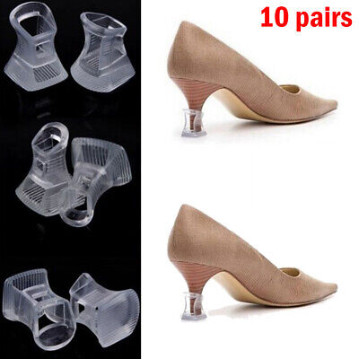 20x Clear Black Stiletto High Heel Protectors Covers Stoppers Petite Brides
