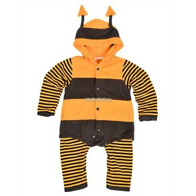 Baby Fleece Ladybird Bee Cartoon Cosplay Costume Fancy Dress Romper N98B 01