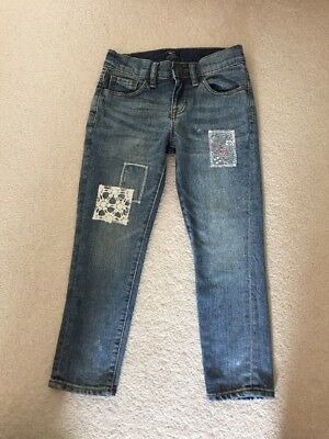 GAP Girl Mid blue denim Girlfriend jeans 5 pocket detail Age 6 - Worn Once