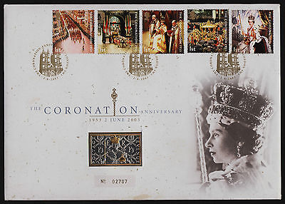 2003 The Coronation Anniversary Sterling Silver Ingot 24k Gold Plated UK Cover
