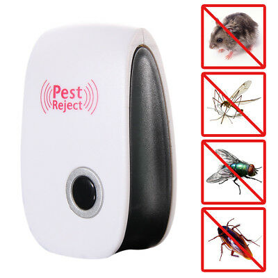 Electronic Ultrasonic anti Pest Bug Mosquito Cockroach Mouse Killer EU Plug