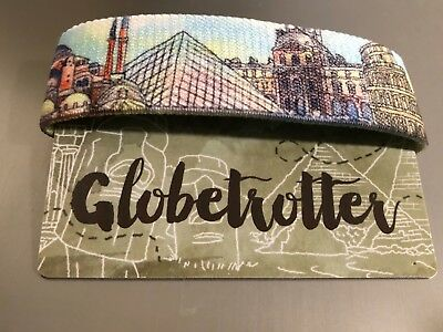 Globetrotter Zox Strap  Reversible Wristband - New - Travel - Famous Landmarks