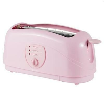 Signature Baby Pink 4 Slice Bread Toaster Sliding Crumb Tray Fit for All Bread
