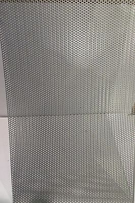 """20 Ga. 304 Stainless Steel Perforated Sheet 1/8""""holes   4"""" X 6"""""""
