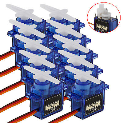 10pcs 9G SG90 Mini Micro Servo For RC Robot Helicopter Airplane Car Boat QE New
