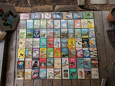 HUGE Lot of 73 Vintage GOLDEN GUIDE - Many 1st Editions, Rare, or HtF - FreeShip