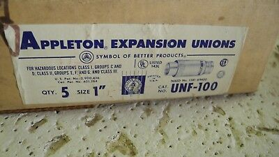 "Appleton Expansion Union, Female Steel 1"" UNF-100, Case of 5"