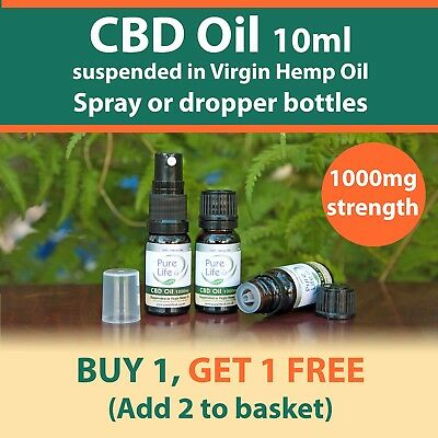10 ML CBD OIL CANNABIS OIL 1000mg (10%) BOTTLES for topical use.BUY 1 get 1 FREE