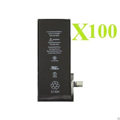 Lot 100 x 1810mAh Li-ion Internal Battery Replacement w/ Flex Cable for iPhone 6