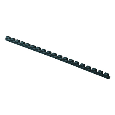 "Fellowes 52507 Plastic Comb Bindings, 5/16"" Diameter, 40 Sheet Capacity, Black ("