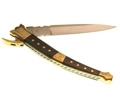 Cannon Spanish Style Folding Pocket Knife - Wood Handles - Nice Filework CAN025