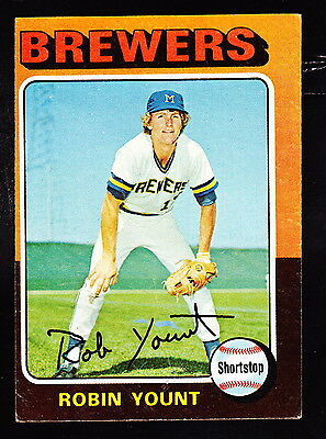 1975 Topps #223 Robin Yount Brewers Rookie