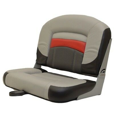 Wise Seating Boat Folding Fishing Seat 177349 | Wide Black Gray Red