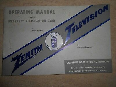 Zenith Television Operating Manual 19721973 Vintage 864 Picclick. Vtg 1957 Zenith Television Tv Operating Manual Model Z72247r. Wiring. Zenith 5g03 Wiring Diagram At Scoala.co