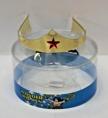 DC Comics Wonder Woman Gold Tone Tiara With Red Gem Star Cosplay Costume