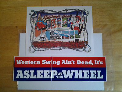 Asleep at the Wheel promo card w/ bonus bumper sticker (unused)