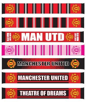 Manchester United FC OFFICIAL Scarf Selection Christmas Fathers Day Gift
