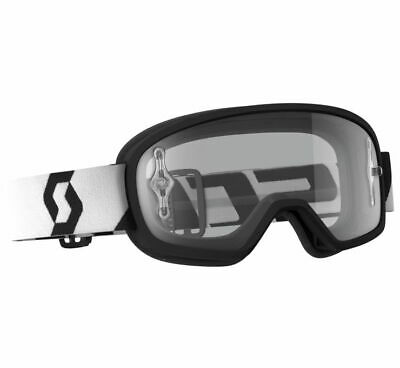 ebe0d1b4832 Scott YOUTH Buzz Pro Goggles Black White Clear Lens