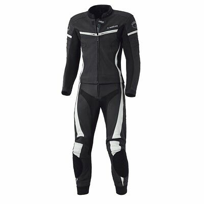 Held Spire Black / White Motorcycle Motorbike Two Piece Leather Suit All Sizes