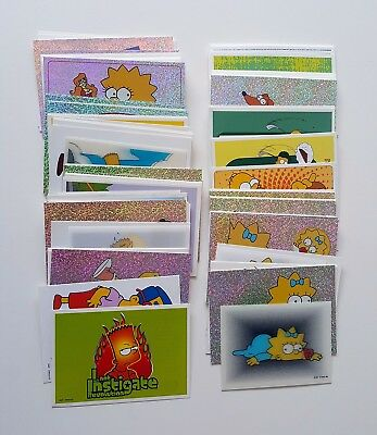 2000 Panini The Simpsons stickers & cards near complete set 123 of 124  mint
