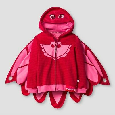 PJ Masks Owlette Toddler Girl's Zip-Up Mask Hoodie PJ Masks hoodie 3T 4T