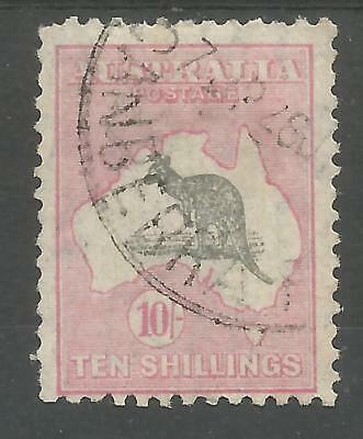 Australia  Sg136 The 1932 Gv 10/- Grey And Pink Fine Used Cat £150