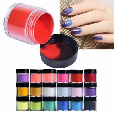 18 Color Acrylic Manicure Nail Art Tips UV Gel Powder Dust 3D DIY Decoration NEW