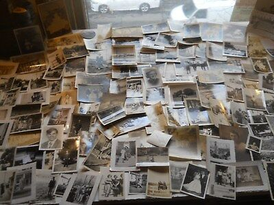 125 Old Photos Lot BW Vintage BLACK & WHITE Photographs Snapshots antique sepia