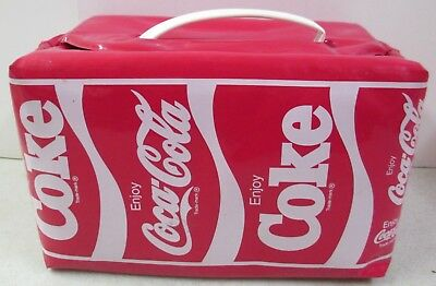 Vintage 1985 Markatron Enjoy Coca Cola Enjoy Coke Soda Vinyl Lunch Bag Box