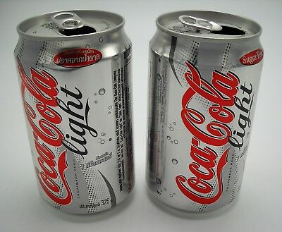 Thailand Coca-Cola Light Empty Can Lot (2) Thai Diet Coke (2005)