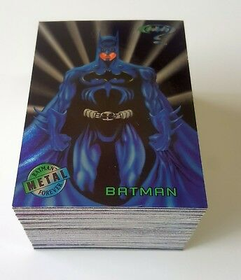 1995 Fleer Batman Forever Metal complete base set of 100 cards mint