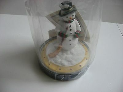 """Sealed New Market Design Snowman Cookie Stamp 4"""" tall 3"""" base Nice Gift"""