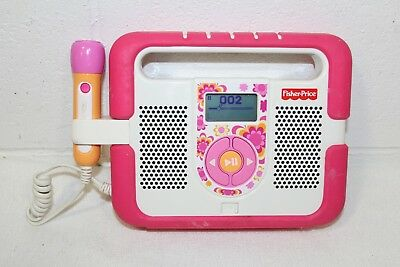 Fisher Price Kid Tough MP3 Music Player Microphone Karaoke Pink Stereo WORKS!!