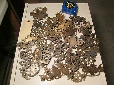 YY5 Antique Lot of 50+ Batwings Furniture Handles Chippendale All Have Handles