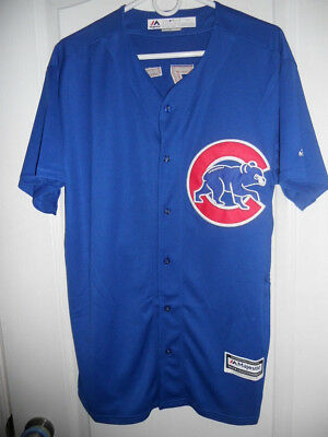 #44 Anthony Rizzo Cubs Alternate Blue Majestic Cool Base Stitched Jersey L